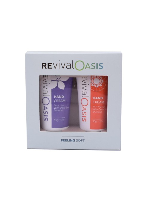 REVIVAL Deadsea Feeling soft - hand cream set purple-orange 50gr/1.7oz