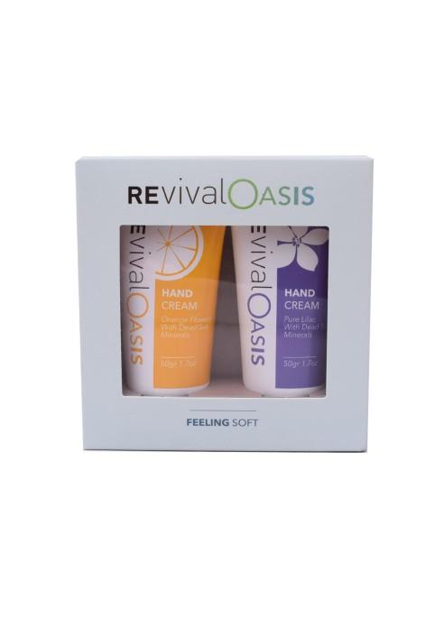 REVIVAL Deadsea Feeling soft - hand cream set purple-yellow 50gr/1.7oz