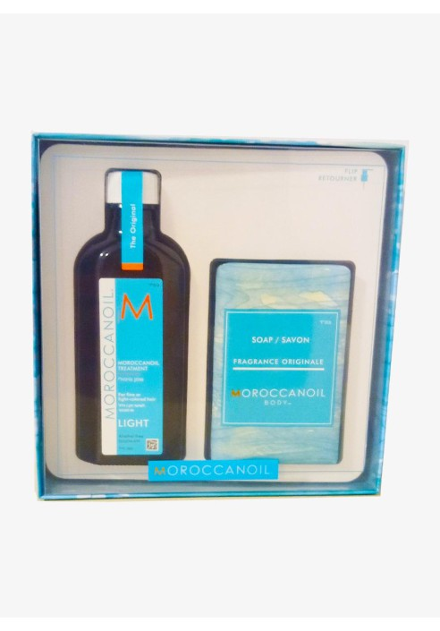 MOROCCANOIL treatment light colored hair and soap