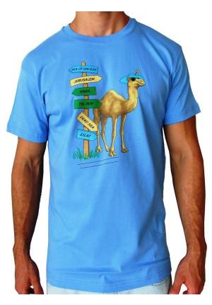 T-shirt Camel Directions - Light blue